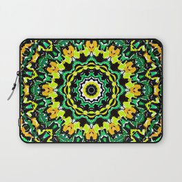 Orange Yellow and Green Kaldeidoscope 2 Laptop Sleeve