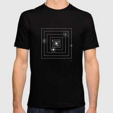 Somewhere here Black Mens Fitted Tee MEDIUM