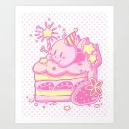Kirby Cake Art Print