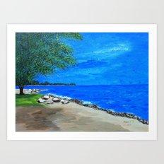 Corner of the lake Art Print