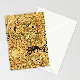 Antique Persian Tabriz Animal Rug Print Stationery Cards