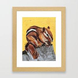 Chipmunk Framed Art Print