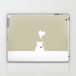 Teddy Bear Beige Heart Love Laptop & iPad Skin
