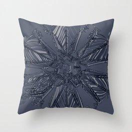 Snow Marries Stone Throw Pillow