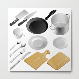 Kitchen tools Metal Print