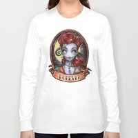 pinup Long Sleeve T-shirts featuring FOREVER pinup by Tim Shumate