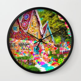 The Gingerbread House Wall Clock