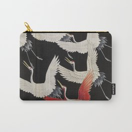 Furisode with a Myriad of Flying Cranes (Japan) Carry-All Pouch
