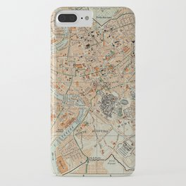 Vintage Map of Rome Italy (1911) iPhone Case