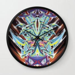 Abstract Graff Wall Clock