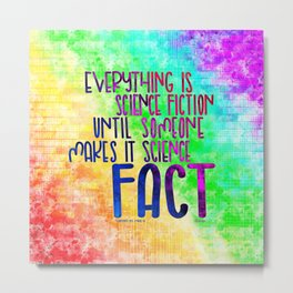 Science Fact (Warcross) Metal Print