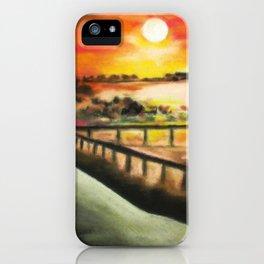 running at dusk 1 iPhone Case