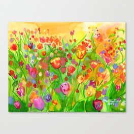 Tulips for Nicole 2019 Canvas Print