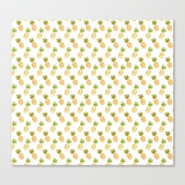 Tropical Watercolour Pineapples Canvas Print