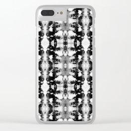 Tie-Dye Blacks & Whites Clear iPhone Case