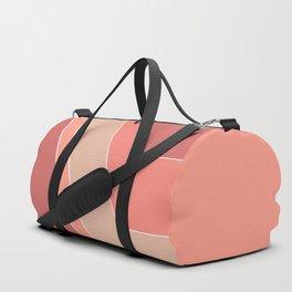 Terracotta , beige , abstract Duffle Bag