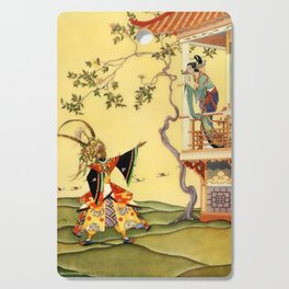 "Folk tale ""1001 Nights"" by Virginia Sterrett Cutting Board"