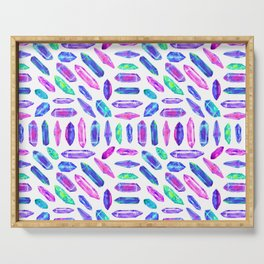 Crystal Shard Mosaic in Rainbow Bubblegum + White Serving Tray