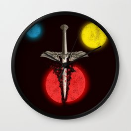 Nevernight [Plain - Black] Wall Clock