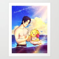 markiplier Art Prints featuring Markiplier and Chica - Family Moments by Draw With Rydi