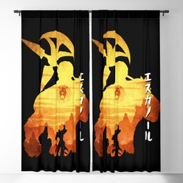 Minimalist Silhouette Escanor Blackout Curtain