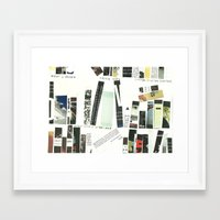 library Framed Art Prints featuring library by Willy Ollero