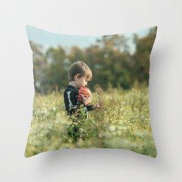 Halloween boy Throw Pillow