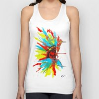 native american Tank Tops featuring Native American by ART HOLES