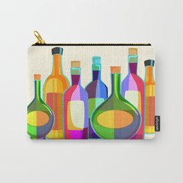 Colored Glass Bottles Carry-All Pouch