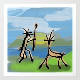 Cave Painting Art Print