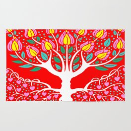Love Grows Forever - Tomato Red Rug