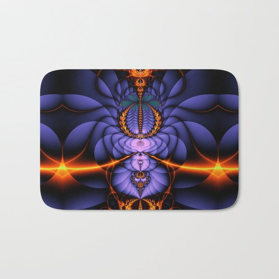 Released, Artistic Fractal abstract  Bath Mat