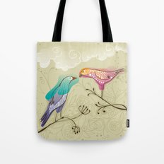 couple of beautiful love birds Tote Bag