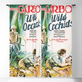 Classic Movie Poster - Wild Orchids Blackout Curtain