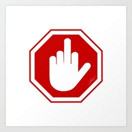 DAMAGED STOP SIGN Art Print