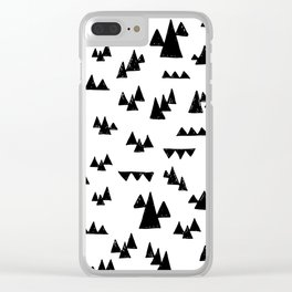 Nordic trees Clear iPhone Case