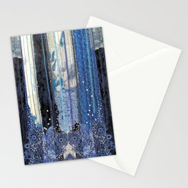 Waterfall in blue Stationery Cards