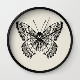 Lacewing Butterfly Wall Clock