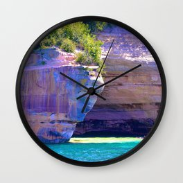 Michigan's Pictured Rocks Wall Clock