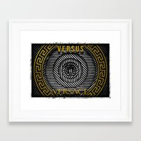 versace Framed Art Prints featuring VERSUS VERSACE by Roman Drobot
