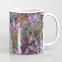 jenna kutcher Mugs featuring Purple Clematis by LLL Creations