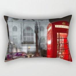 London Phone Booth Rectangular Pillow