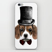 beagle iPhone & iPod Skins featuring Beagle by bylosangeles