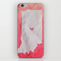 tote bag iPhone & iPod Skins featuring Indianapolis Love Pink Ombre (Bag Art) by Aries Art