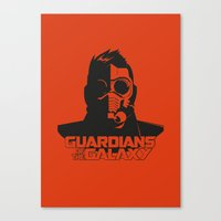 starlord Canvas Prints featuring Starlord by bookotter