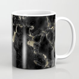Modern abstract black gold trendy marble Coffee Mug