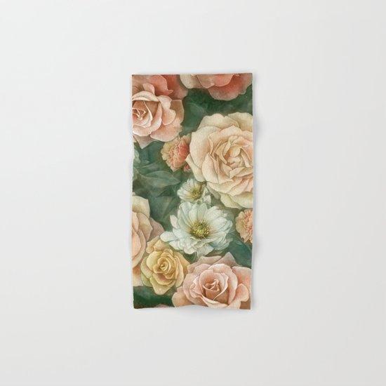 Floral rose pattern Hand & Bath Towel