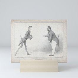 Tweedledum and Tweedledee, or, The Schoolmaster [i]s abroad!,February 16, 1835 Mini Art Print