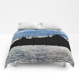Sultanahmet Camii Skyline Istanbul Turkey Comforters