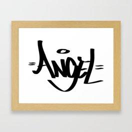 Angel Graffiti tag Framed Art Print